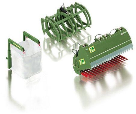 Wiking 7384 Frontladewerkzeuge Set B - Bressel & Lade grün