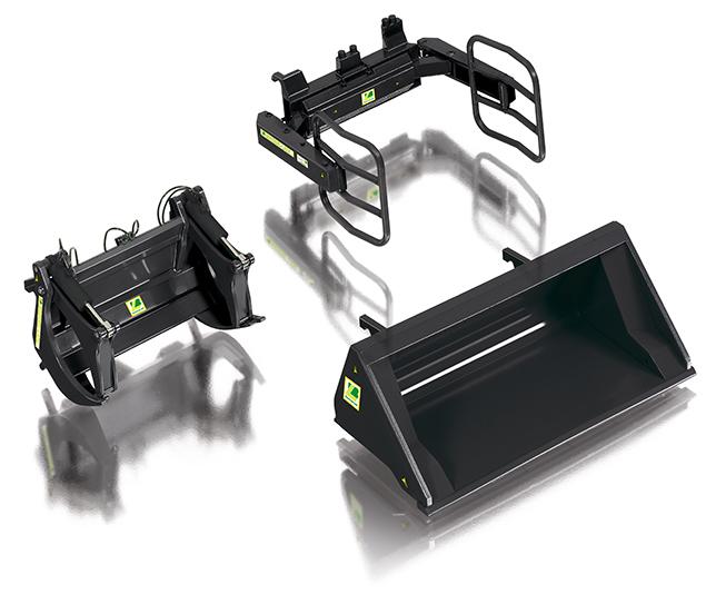 Wiking 7385 Frontladewerkzeuge Set A - schwarz